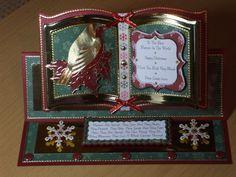 Handmade Easel Christmas Card Girl Boards, Glitter Girl, Keepsakes, Easel, Crafts To Make, Handmade Cards, Advent Calendar, Card Ideas, Christmas Cards