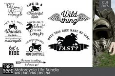 Looking for Motorcycle designs for crafting? These svg and cut files are just what you are looking for! (Photos on example are not included - just for marketing Motorcycle Decals, Motorcycle Gifts, Motorcycle Quotes, Motorcycle Design, Motorcycle Wear, Biker Quotes, Camping Signs, Skateboard Design, Biker Girl