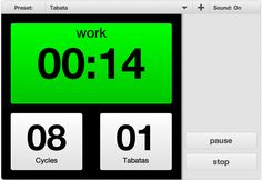 Check out this free online tabata timer at TabataTimer.com. I use this for the bodyrock.tv workouts since I don't have a timer yet.