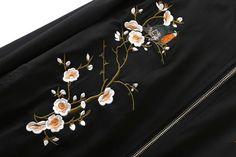 Mujeres bomber jacket Negro de aves de gran tamaño damas bordados de flores de primavera femenina abrigo casaco chaqueta chaquetas mujer primavera 2016 en Chaquetas básicas de Ropa y Accesorios de las mujeres en AliExpress.com | Alibaba Group