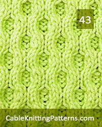 Over 50 cable stitch patterns for the experienced knitter who is looking for cable stitches that yield spectacular results Cable Knitting Patterns, Knitting Charts, Knitting Stitches, Knit Patterns, Stitch Patterns, Cable Needle, Yarn Crafts, Free Pattern, Knit Crochet