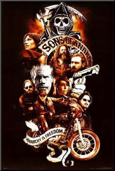 Sons of Anarchy Collage Mounted Print at Art.com