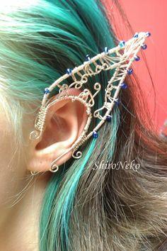 Windy Elf Ear Cuff by on DeviantArt Ear Jewelry, Jewelry Art, Jewellery, Vintage Jewelry, Elfen Fantasy, Dragon Ear Cuffs, Elf Ear Cuff, Double Earrings, Elf Ears