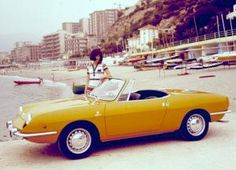 This was the car I had Fiat 850 Spider 1968 Fiat 850, Fiat Abarth, Luxury Sports Cars, Sport Cars, Turin, Convertible, Automobile, Cabriolet, Car Advertising