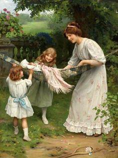"""Swing Swing"" von Arthur John Elsley (geboren am 20. November 1860 in London, gestorben am 19. Februar 1952 in Tunbridge Wells), englischer Maler."