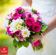 Fushia pink white wedding bouquet-- Peter Allen House Wedding Photographer Harrisburg Creative Best Picture For wedding bouquets succulents For Your Taste You are looking for something, and it is goin Fuschia Wedding, Hot Pink Weddings, White Wedding Bouquets, Bride Bouquets, Floral Bouquets, Wedding Colors, Wedding White, Prom Flowers, Bridal Flowers