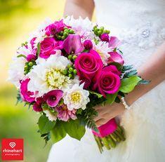 Fushia pink white wedding bouquet-- Peter Allen House Wedding Photographer Harrisburg Creative