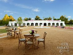 Lovely open spaces designed with an equestrian style.