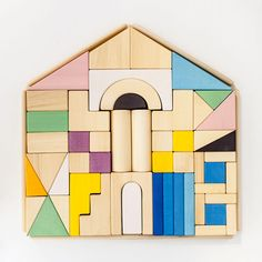 Building blocks  House blocks  Blocks set  Wooden blocks