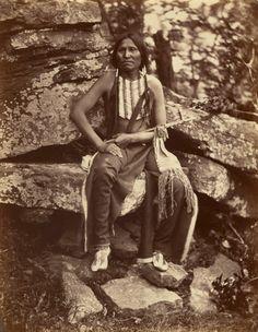 Little Bear, Cheyenne. 1875. Oklahoma. Photo by John K. Hillers..*