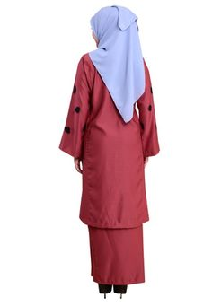 Kurung Happy 06 from Hijrah Couture in Red Kurung Happy 06 from Hijrah Couture in Red - Standard Kurung Pahang- Soft material- Simple and plain premium design- Detailing 3D Flower&n... Rain Jacket, Windbreaker, Raincoat, Couture, Red, Jackets, Stuff To Buy, Fashion, Down Jackets