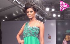 Pick of the Day: Designer Rajneeral ( VhannahJaipur ) took her inspiration from the precious stone - Mystic Topaz. Its vibrant colours were brilliantly portrayed in all her garments, which ranged from anarkalis to lehengas and elegant gowns. Take a look.  http://www.nevanta.com/videos/rajneeral-bangalore-fashion-week-ss13/