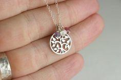 Stammbaum Halskette  Silber Stammbaum von bellezamia auf Etsy