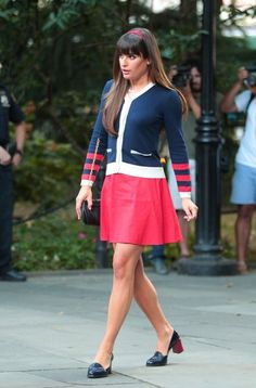 Lea Michele and Dean Geyer Film 'Glee'