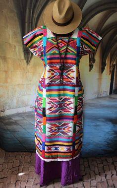 Colorful Traditional San Felipe Usila Huipil, Hand Woven Tuxtepec Oaxaca Mexico #Handmade #MexicanDress