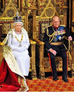 Queen Elizabeth II sits with Prince Philip, Duke of Edinburgh as she delivers her speech during the State Opening of Parliament in the House of Lords at the Palace of Westminster on June 2014 in London, England. English Royal Family, British Royal Families, Elizabeth Philip, Queen Elizabeth Ii, Reine Victoria, Queen Victoria, Royal Queen, King Queen, God Save The Queen