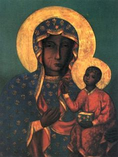 The Black Madonna of Częstochowa, also known as Our Lady of Częstochowa, is a revered icon of the Virgin Mary housed at the Jasna Góra Monastery in Częstochowa, Poland. Madonna Art, Madonna And Child, Madonna Images, Religious Icons, Religious Art, Virgin Mary, Luke The Evangelist, Our Lady Of Czestochowa, La Madone