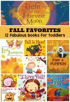 Best Fall Books for Toddlers! 12 books that your kids will love to read this autumn