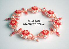 Tutorial: Briar Rose Bracelet - Bead Weaving Tutorial, Personal Or Commercial Use (Pearls, Bicones, Seeds)