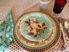 Majolica table ware