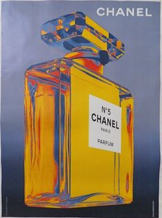 Rare Chanel No 5 Bottle Advertising Poster from Paris...V