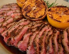 Food Wishes Video Recipes: Garlic, Black Pepper, and Fennel-rubbed Flank Steak with Grilled Oranges - aka Party Steak!