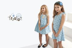 Vestidos de niña para #verano 2016: Trasluz.  #primaveraverano #2016 #blogmodainfantil #modainfantil #vestidosnina