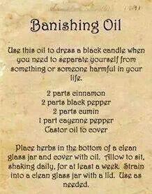 Banishing Oil