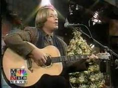 His last performance on The Today Show 12/19/1996
