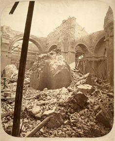 A Lipótvárosi bazilika (Szent István-bazilika) beszakadt kupolája, 1868. január 22. Borsos József felvétele   Kiscelli Múzeum