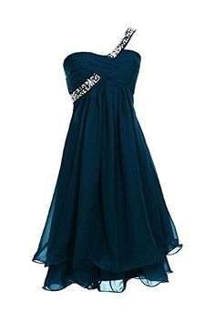 KAYLAYLA Womens Beaded OneShoulder Gown 2015 Short Homecoming Gown jade 6 * More info could be found at the image url.