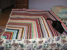 Ravelry: Not a Granny Square Blanket pattern by Vicki Mikulak.