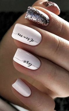 cute nail art designs for short nails in summer 2019 34 Cute Nail Art Designs, Short Nail Designs, Acrylic Nail Designs, Acrylic Nails, Coffin Nails, Cute Nail Colors, Nail Polish Colors, Cute Nails, My Nails