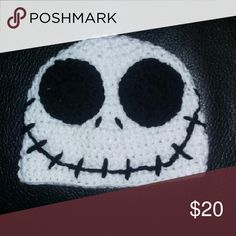 Handmade Nightmare Before Christmas beanie Can be made in all children's sizes.  Can be made with earflaps for $25  After purchase, comment child's age Accessories Hats