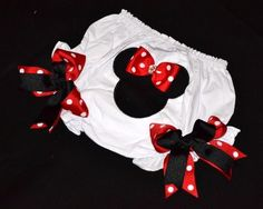 NEW Minnie Mouse BLOOMERS matches perfect with our MINNIE mouse TuTu Set. $17.49, via Etsy.