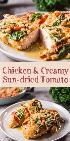 Chicken With Sun Dried Tomatoes Parmesan Sauce Is An Easy Simple Recipe Despite The Long Name Try To Make This Delicious Meal For Your Loved Ones. Grilled Chicken Recipes, Baked Chicken Recipes, Recipe Chicken, Chicken Recipe With Sun Dried Tomatoes, Sun Dried Tomato Sauce, Cooking Recipes, Healthy Recipes, Free Recipes, Eating Clean