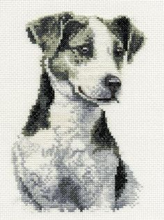Jack Russell Terrier Cross Stitch Kit from DMC