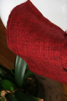 RED! (Madelintosh yarn woven by Kiiki)