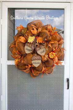 Fall+Wreath+Fall+Wreath+Fall+Decor+Fall+Decoration+by+SCWBoutique,+$70.00