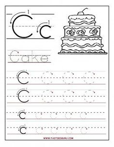 Printable letter C tracing worksheets for preschool - Printable Coloring Pages For Kids
