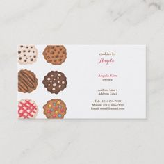 Cute Cookies Cookie Business Bakery Business Card Bakery Business Cards, Cute Cookies, Bakers Sweets, Cookie Bakery, Place Card Holders, Create Your Own, Gender, Things To Come, Paper