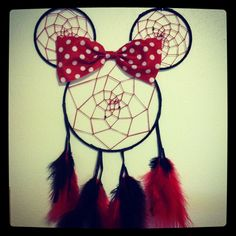 Minnie Mouse inspired dream catcher :)