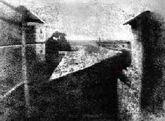 "This is the first photograph ever taken, ""View from his Window at Les Gras"" by Joseph Niepce.  I thought it should be here, because without it, Pinterest wouldn't exist at all!"