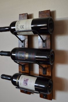 Wine Rack Mini, 3 bottle wine rack made from reclaimed wood .- Wine Rack Mini, 3 bottle wine rack made from reclaimed wood wine Wine Rack Mini 3 bottle wine rack made from reclaimed wood Unique Man Cave Ideas, Rustic Wine Racks, Wine Rack Wall, Bottle Wall, California Wine, Wine Stoppers, Wine Storage, Barbacoa, Wine And Spirits