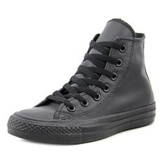 Train in style with these Converse Men's 'Chuck Taylor All Star Leather Hi' Leather Athletic Shoes. Made from Leather Upper and Man-Made Outsole, these styling high top shoes are available in black. L