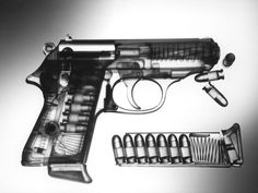 walther ppk made out of perspex for x-ray effect ~ cool cool guns,