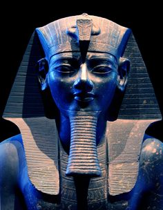 Colossal statue of king Amenhotep III in the British Museum