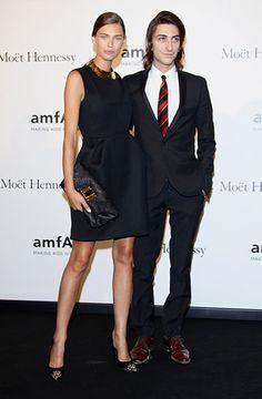 Bianca Balti and Francesco Mele at the amfAR Milano Gala #mfw