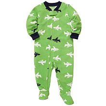 Carter's Boys Airplane Print Microfleece Footed Blanket Sleeper