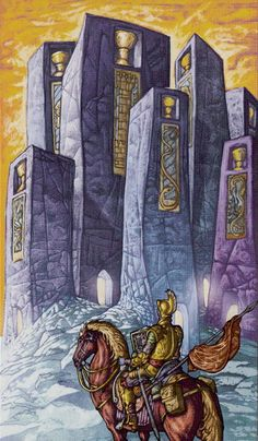 7 of Cups - Universal Fantasy Tarot. Maybe you should reconsider which neighborhood to live in. I sense weirdness in the apartments.